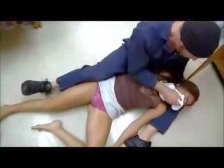 Girl choked fucked